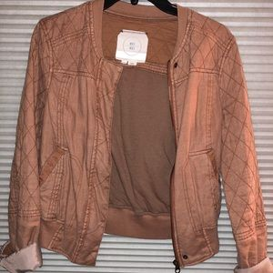 Anthropologie Hei Hei Bomber Jacket in Tan Color